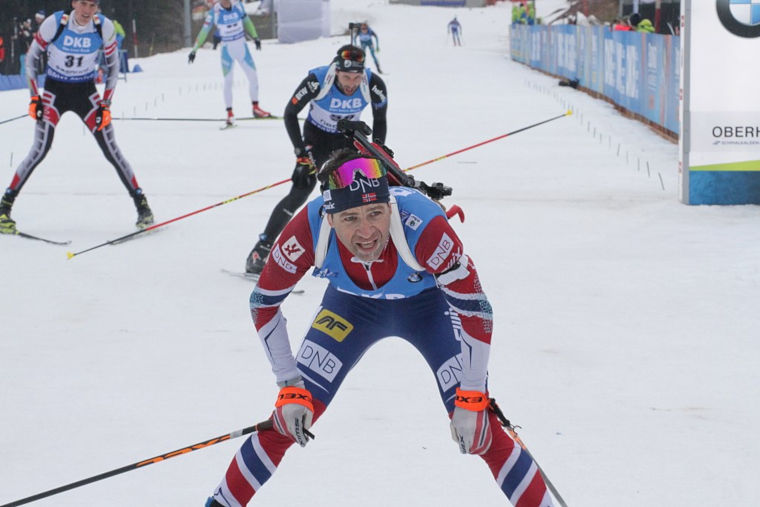 Ole-Einar Björndalen ehti voittaa urallaan Saksan Ruhpoldingissa hurjat 11 kertaa