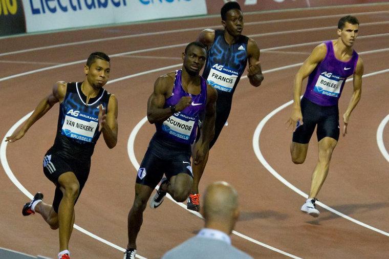 Qatarin Femi Ogunode oli nopein Brysselin Timanttiliiga-illan 200 metrillä vuonna 2015.