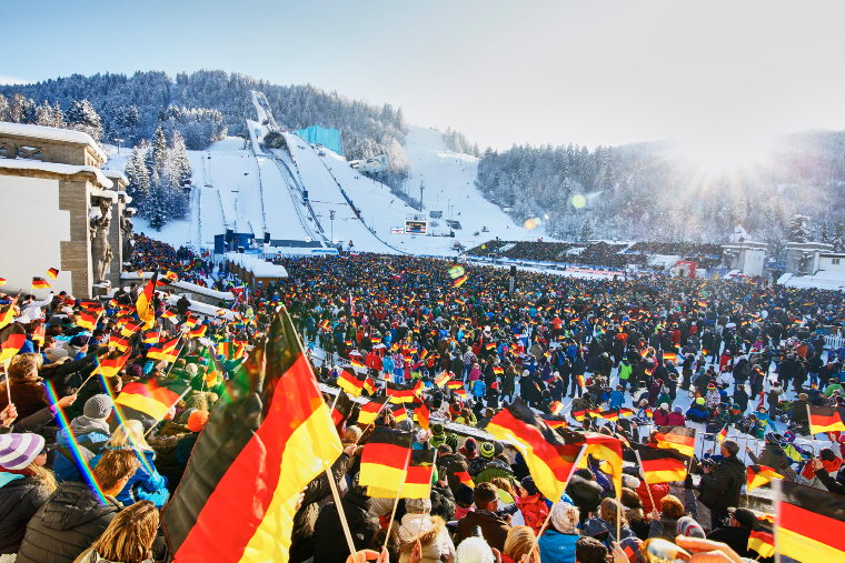 The Four Hills Tournament is known for huge amount of spectators and carnival atmosphere. This time the tournament is organized without public due to the covid-19 pandemic.