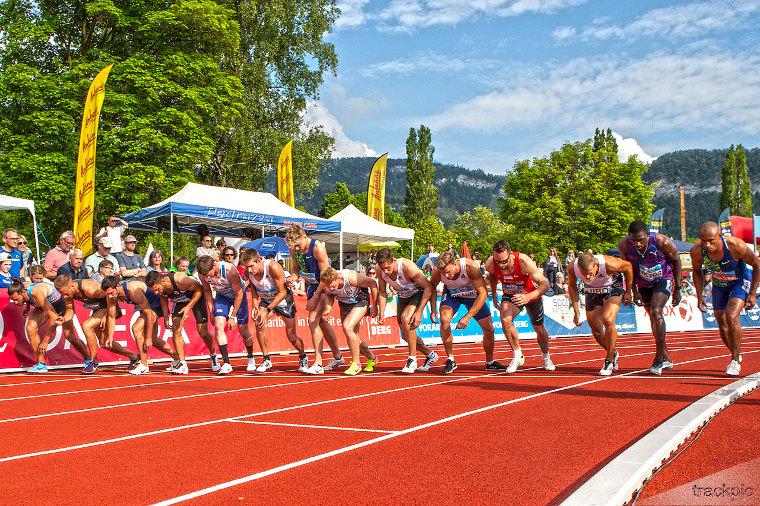 Götzisissä kilpaillaan upeissa maisemissa. Kuva viimeisimmästä kilpailusta vuodelta 2019.