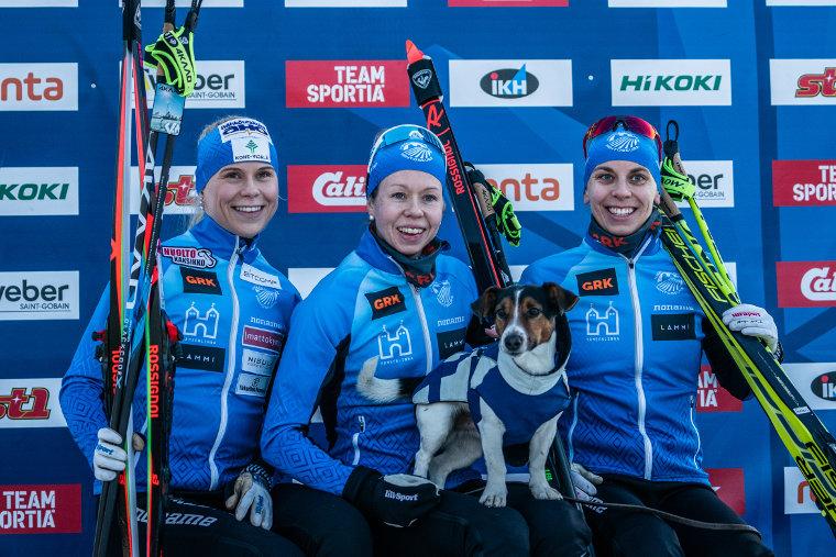 Visa Ski Team yllätti naisten viestissä Rukalla - Puijon Hiihtoseura jälleen miesten ykkönen