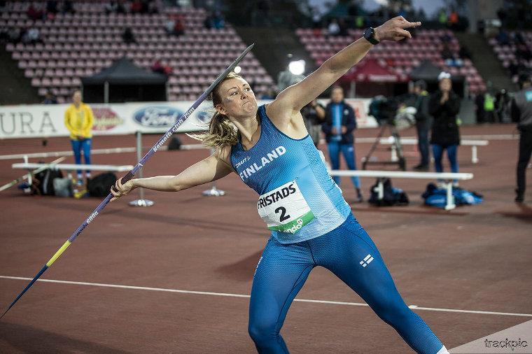 Jenni Kangas on naisten Keihäskarnevaalien viimeisin suomalaisvoittaja.