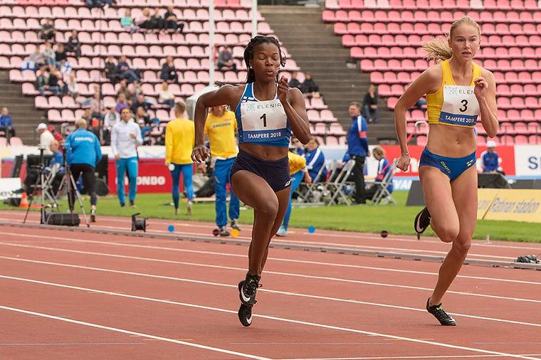 Johanna Kylmänen juoksi 100 metrin hopeaa Euroopan Nuorten Olympiafestivaaleilla