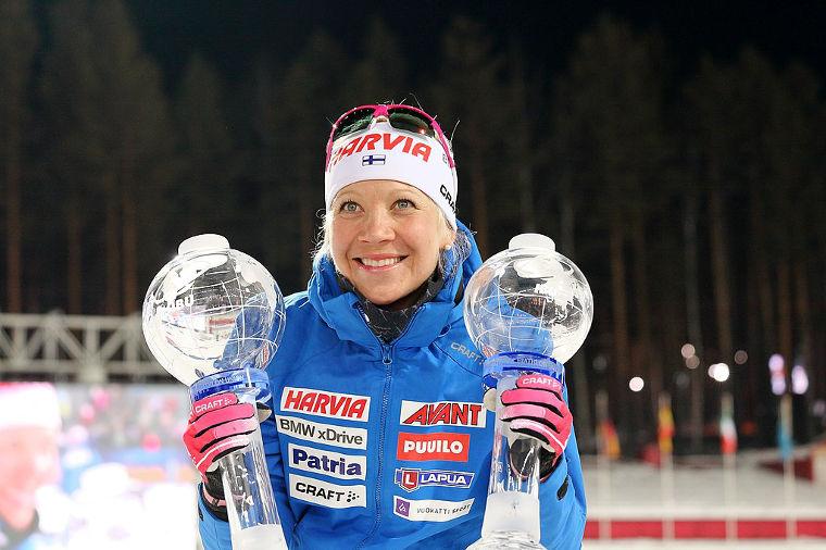 Kaisa Mäkäräinen on aina kunnossa ollessaan kärkitaistossa. Tällä kaudella Mäkäräinen jahtaa jo neljättä maailmancupin kokonaisvoittoaan.