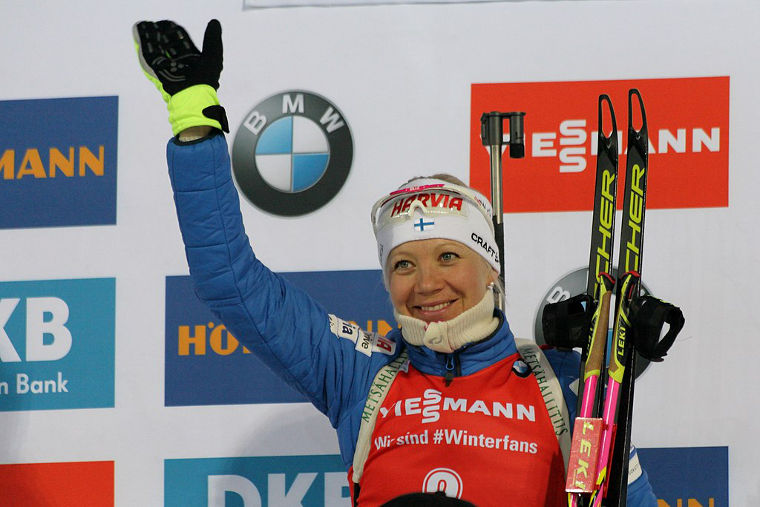 Kaisa Mäkäräinen kaikkien aikojen kakkonen palkintopallisijoituksissa - edellä vain Magdalena Forsberg