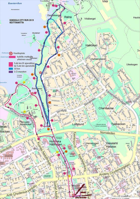 Kokkola City Run juostaan upeissa merenrantamaisemissa IAAF-sertifioidulla reitillä.