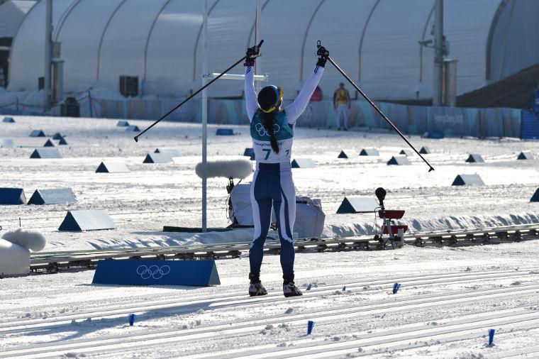 Krista Pärmäkoski menestyi upeasti Pyeongchangin olympialaisissa 2018. Saaliina oli kolme henkilökohtaista olympiamitalia (0-1-2)