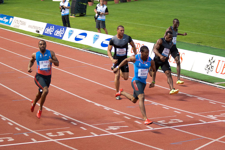 Jamaica's Yohan Blake holds the stadium record in Lausanne in men's 100 meters. He ran 9,69 in Athletissima 2012.