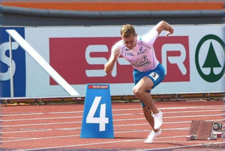 Oskari Mörön vauhti kiihtyy - juoksi 400 m aitojen kauden kärkituloksen Kööpenhaminassa