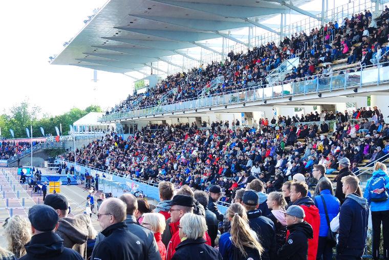 Paavo Nurmi Games on kerännyt paljon yleisöä. Kuva vuoden 2018 kisoista.