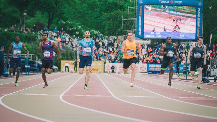 Turkin Ramil Guliyev juoksi vuoden 2017 Paavo Nurmi Gamesissa miesten satasella hurjan kisaennätyksen 10,02.