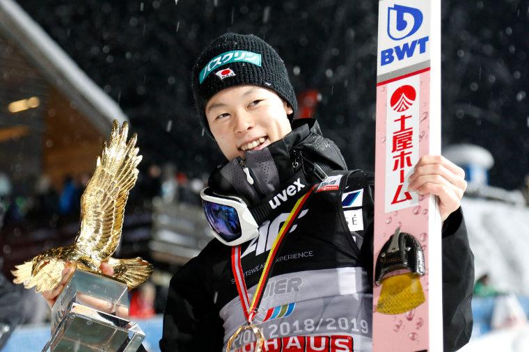 Japan´s Ryoyu Kobayashi won the Four Hills Tournament in 2018-2019.