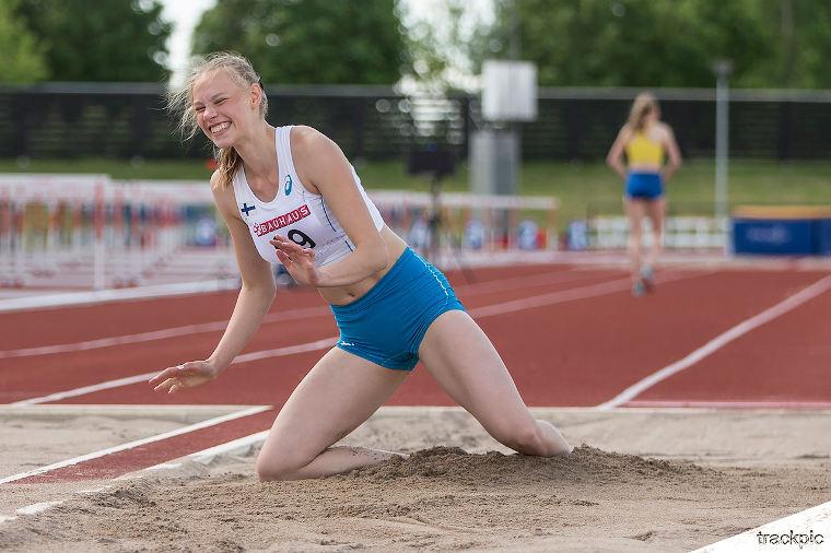 KULTAA! Saga Vanninen seitsenottelun mestari Euroopan Nuorten Olympiafestivaaleilla SE-tuloksella