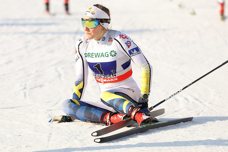 Stina Nilsson makes her international biathlon debut in IBU Cup
