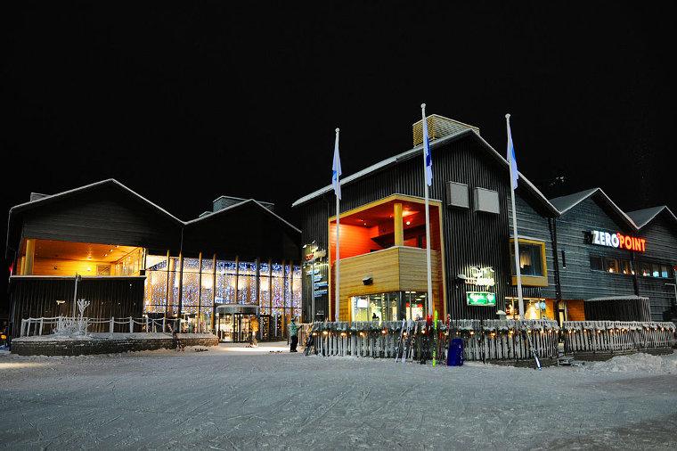 Ylläs-Levi 2019 -hiihdon maali on Levin laskettelurinteen juurella.